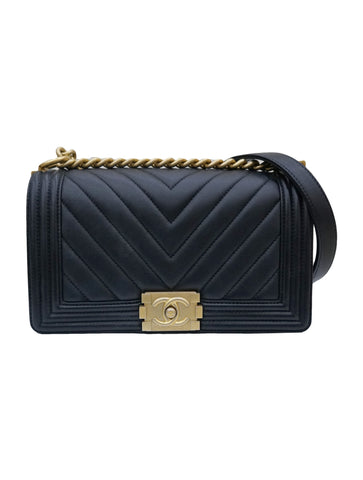 CHEVRON CALFSKIN CLASSIC LE BOY BAG