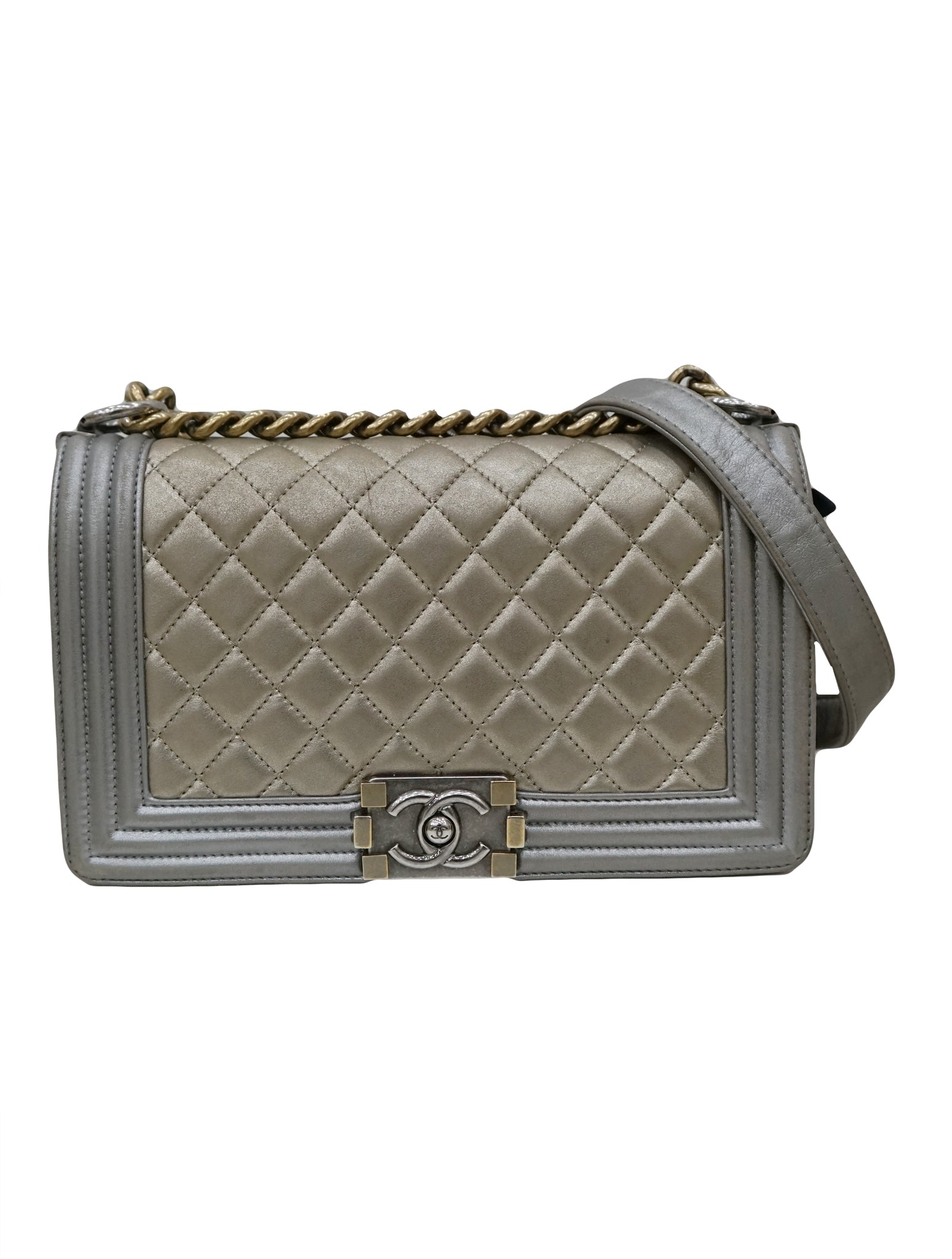 QUILTED LAMBSKIN BOY BAG