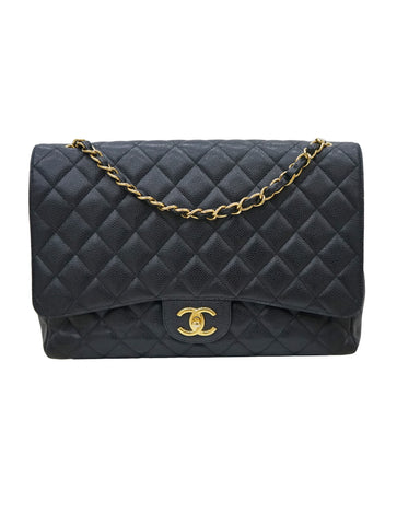 QUILTED CAVIAR CLASSIC DOUBLE FLAP BAG