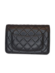 QUILTED LAMBSKIN LEATHER WALLET ON CHAIN