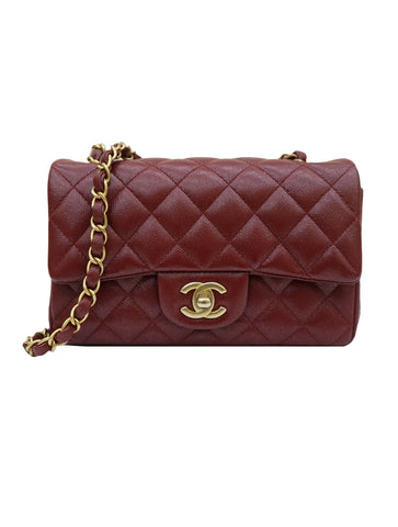QUILTED CAVIAR LEATHER CLASSIC FLAP BAG