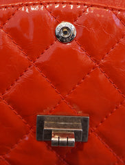 AGED PATENT LEATHER REISSUE DOUBLE FLAP