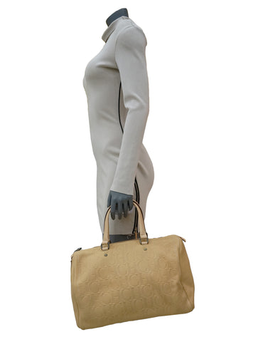 BEIGE MONOGRAM ANDY BOSTON BAG