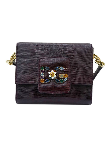 MILLENNIALS EMBELLISHED LIZARD-EFFECT BAG