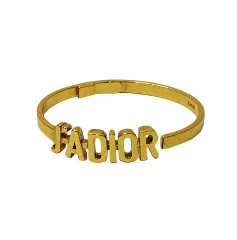 J'DIOR ANTIQUE GOLD-FINISH METAL BRACELET