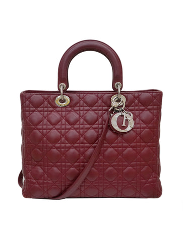 LAMBSKIN CANNAGE LARGE LADYDIOR BAG