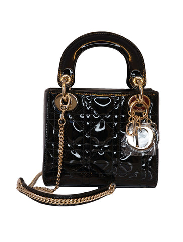 BLACK PATENT LADYDIOR MINI