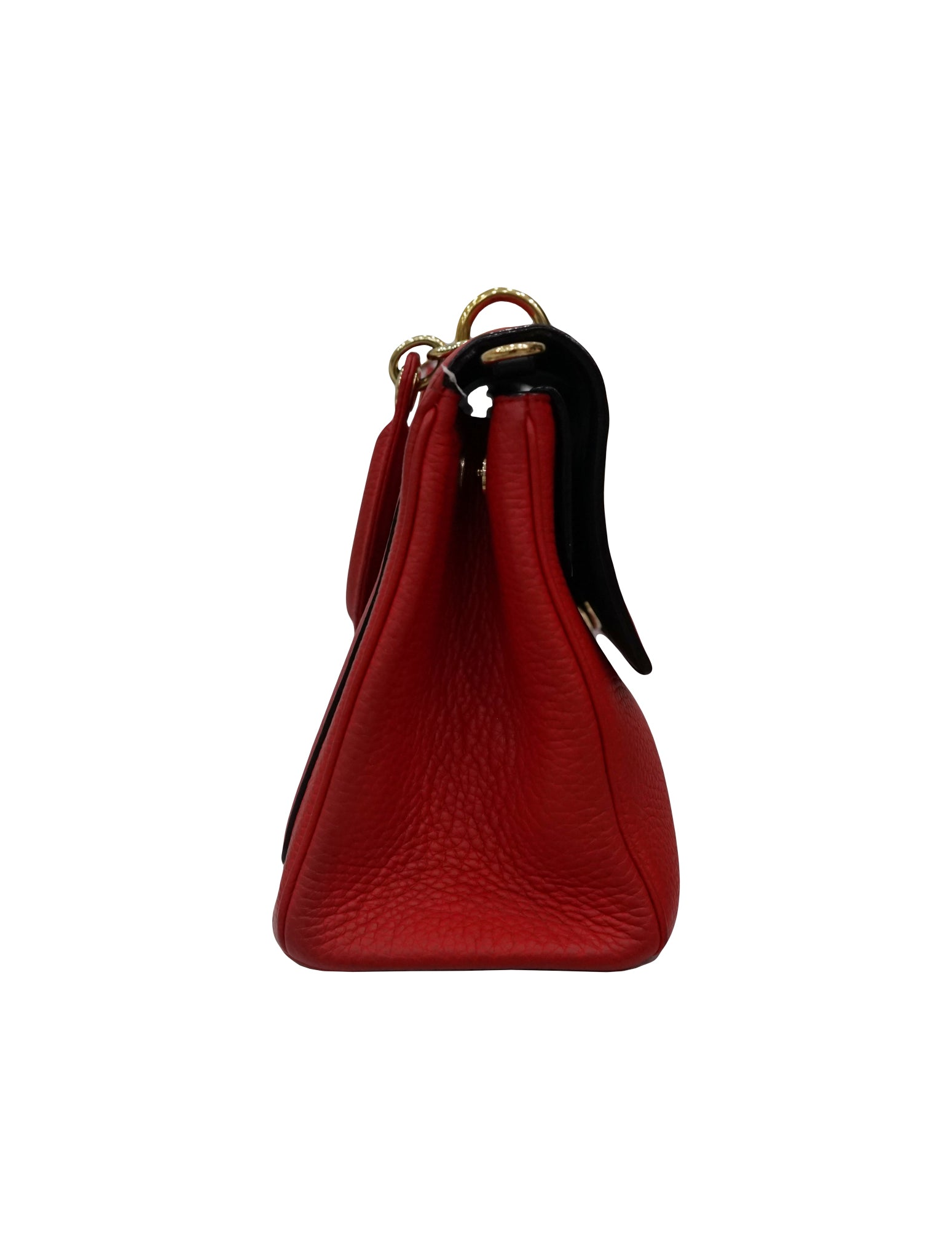 RED LEATHER SMALL BE DIOR SHOULDER BAG