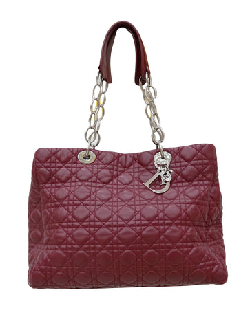 CANNAGE QUILTED LAMBSKIN SHOPPING TOTE
