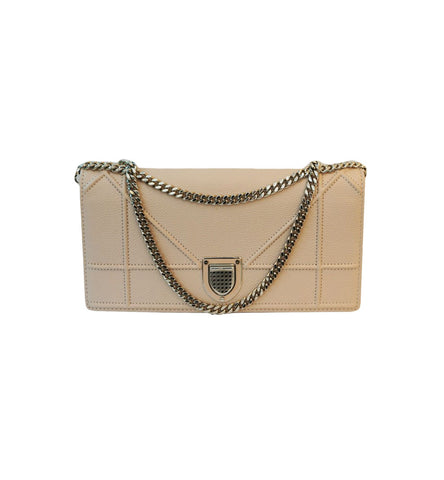 LIGHT PINK DIORAMA WALLET ON CHAIN