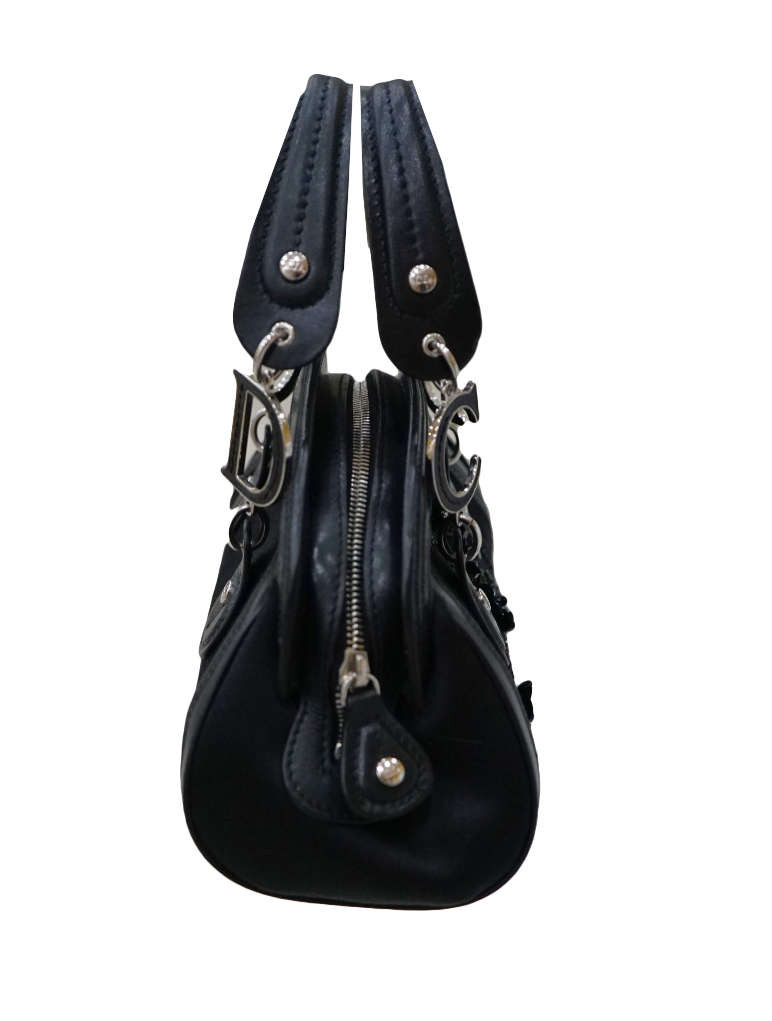 SATIN EMBELLISHED TROTTER TOTE BAG