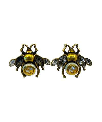 BEE EARRINGS WITH CRYSTALS