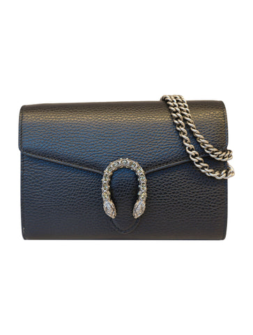 BLACK DIONYSUS MINI CHAIN BAG