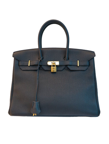 BIRKIN 35 CLEMENCE LEATHER GOLD HARDWARE