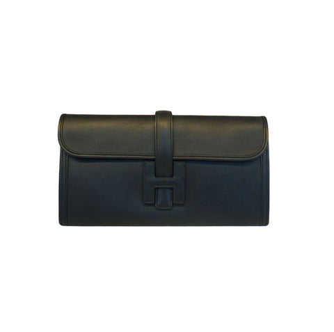 BLACK SWIFT LEATHER ELAN JIGE CLUTCH