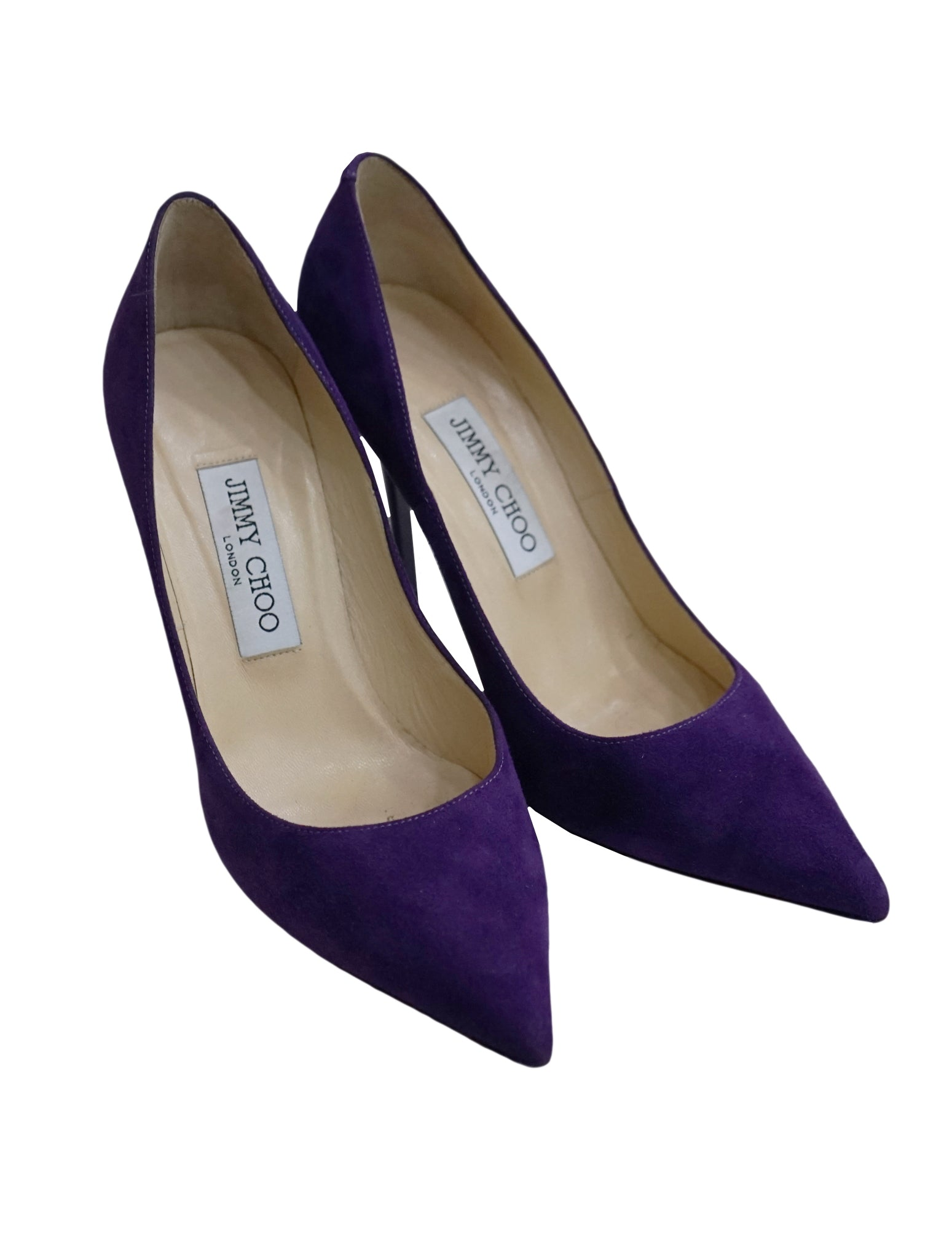 PURPLE SUEDE LEATHER PUMPS