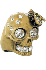 SWAROVSKI CRYSTAL EMBELLISHED SKULL RING