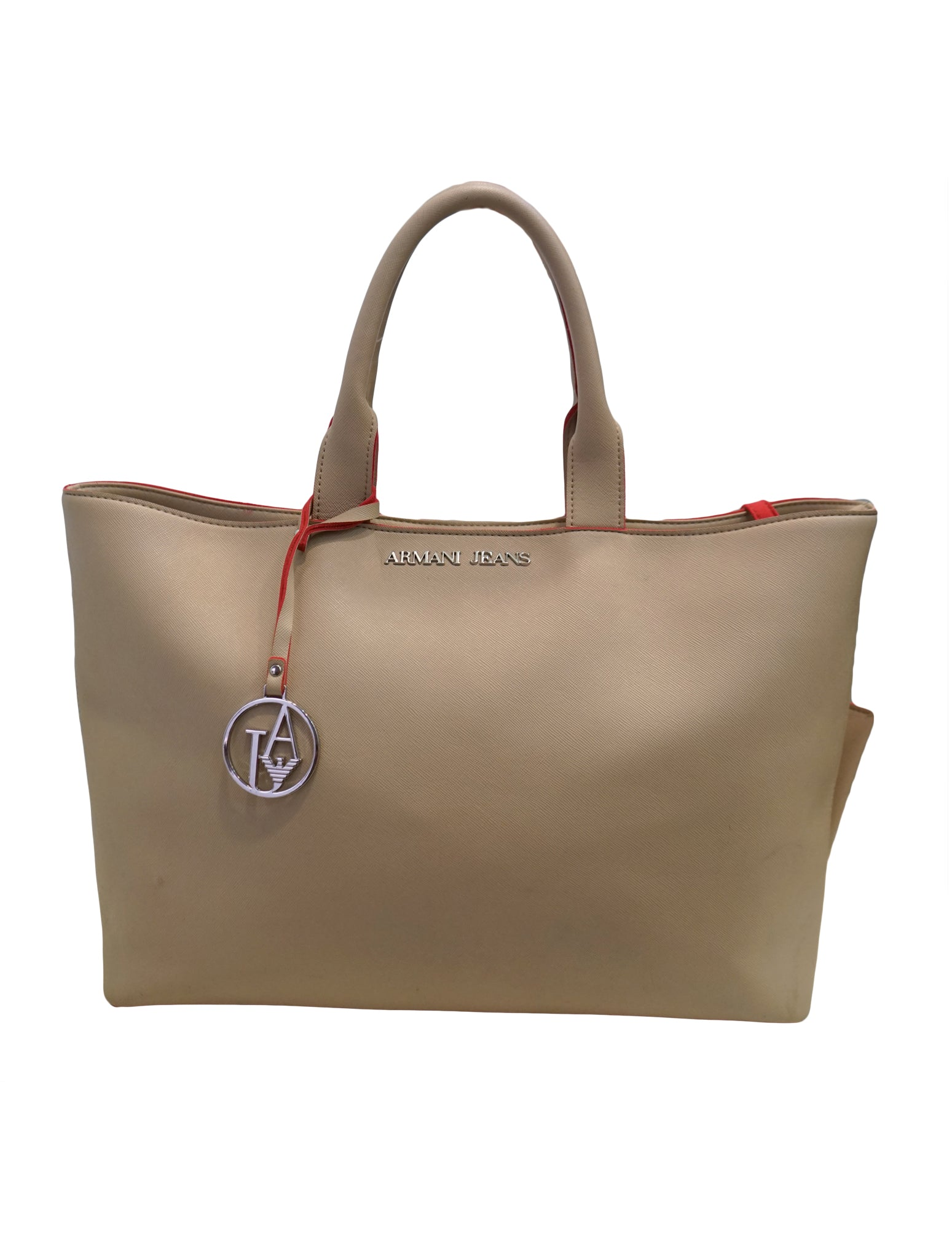 ARMANI JEANS SAFFIANO TOTE NUDO - kidsstyleforless