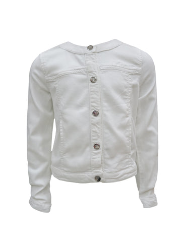 GIRLS WHITE SOFT DENIM JACKET