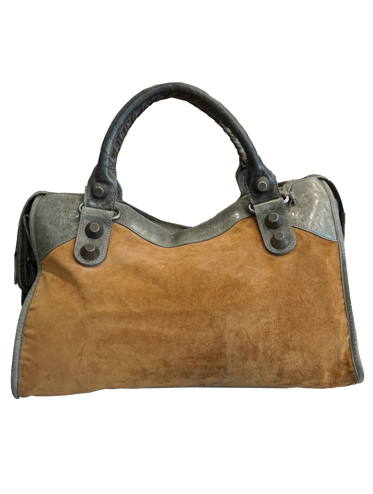 LEATHER GIANT BROWN CITY BAG