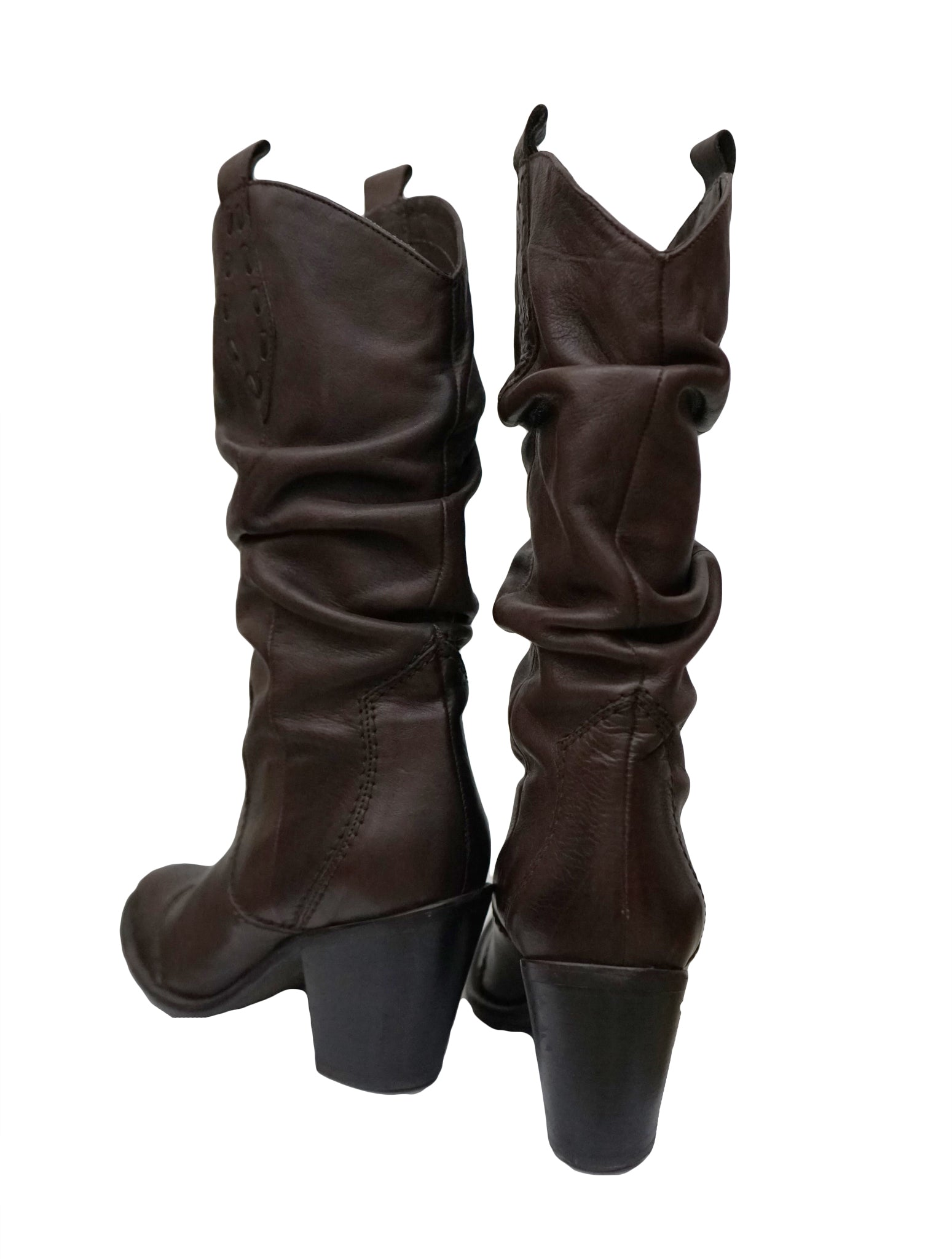 DARK BROWN LEATHER BOOTS