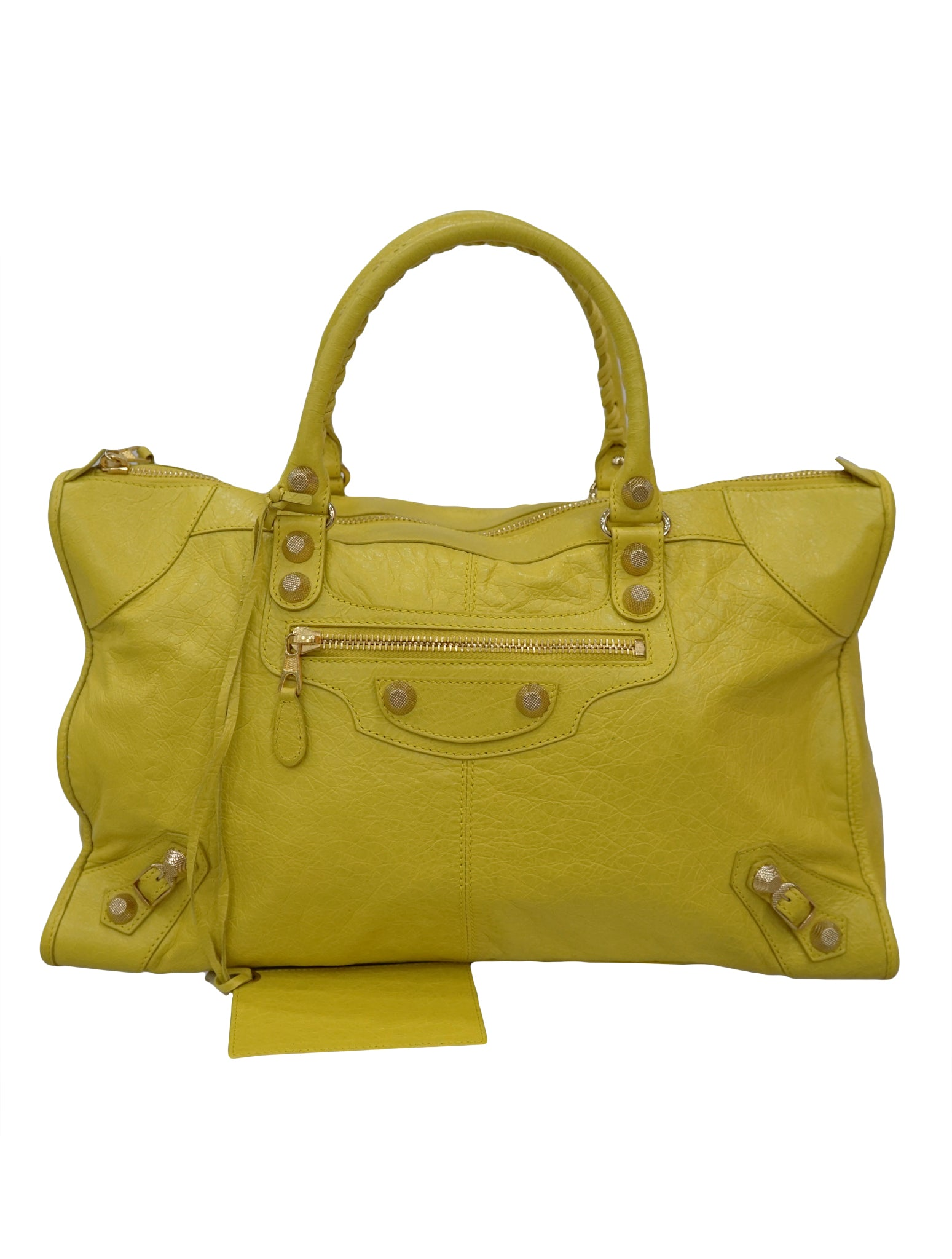 LAMBSKIN LEATHER GIANT 21 GOLD CITY BAG