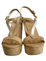 NATIVE LEATHER WEDGE SANDALS