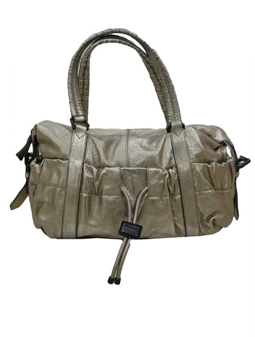 METALLIC LEATHER CURZON SHOULDER BAG