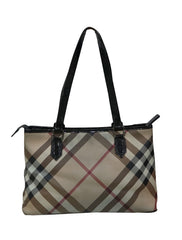 NOVA CHECK SHOPPER TOTE BAG