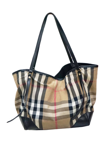 HOUSE CHECK FABRIC CANTERBURY TOTE