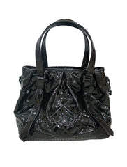 PATENT LEATHER LOWRY TOTE