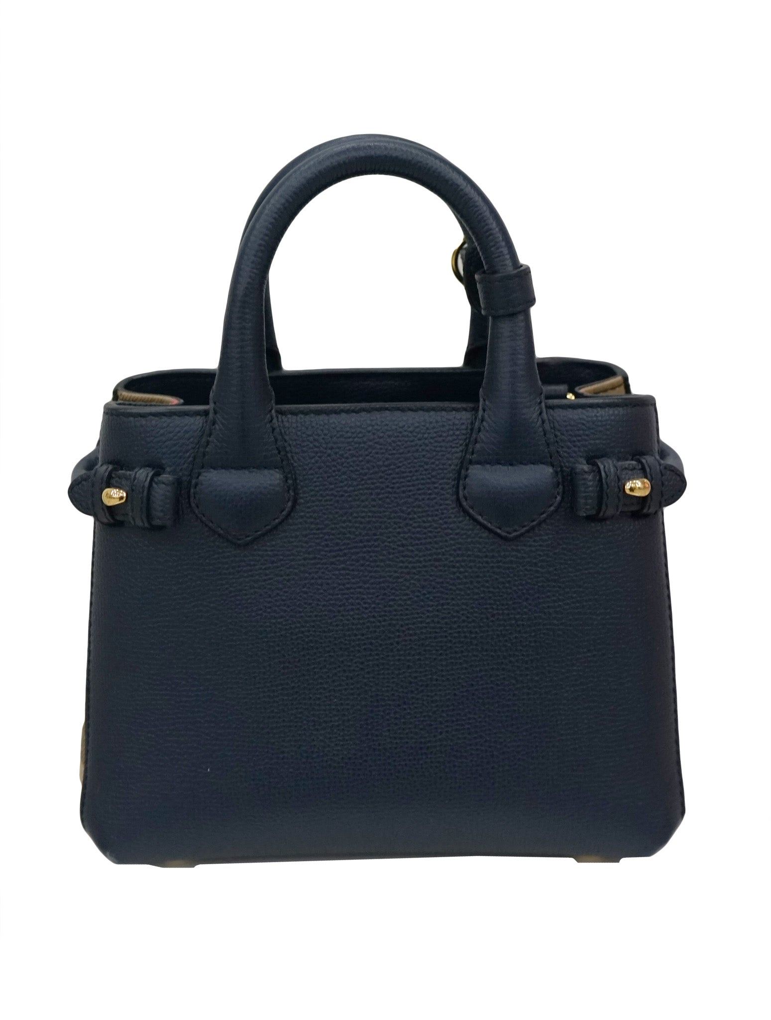 GRAINY CALFSKIN HOUSE CHECK SMALL TOTE