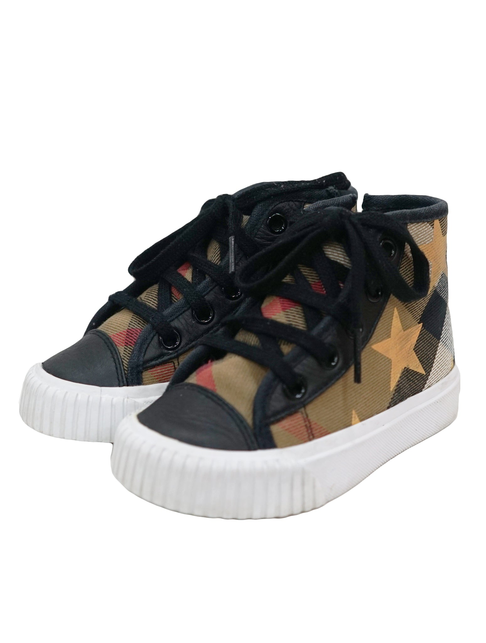 STAR PRINT HIGH TOP CHECK SNEAKERS