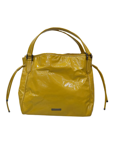 PATENT EMBOSSED LEATHER TOTE BAG