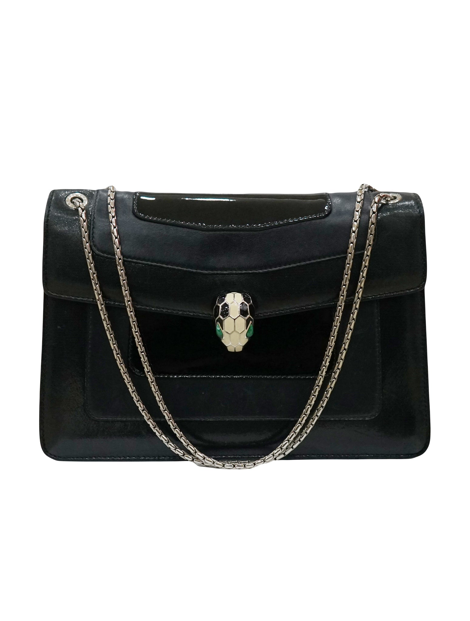 LEATHER PATENT SERPENTI FOREVER BAG