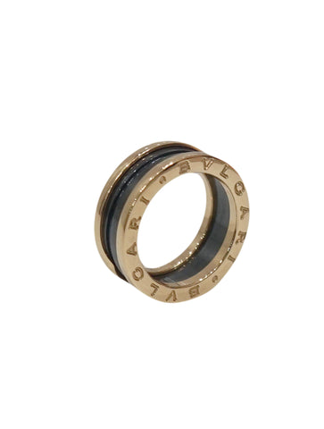 B.ZERO1 3-BAND 18K CERAMIC ROSE GOLD RING