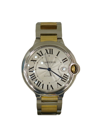 BALLON BLEU SILVER DIAL STEEL & YELLOW GOLD