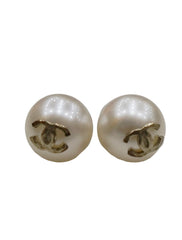 PEARL STUD GOLD EARRINGS