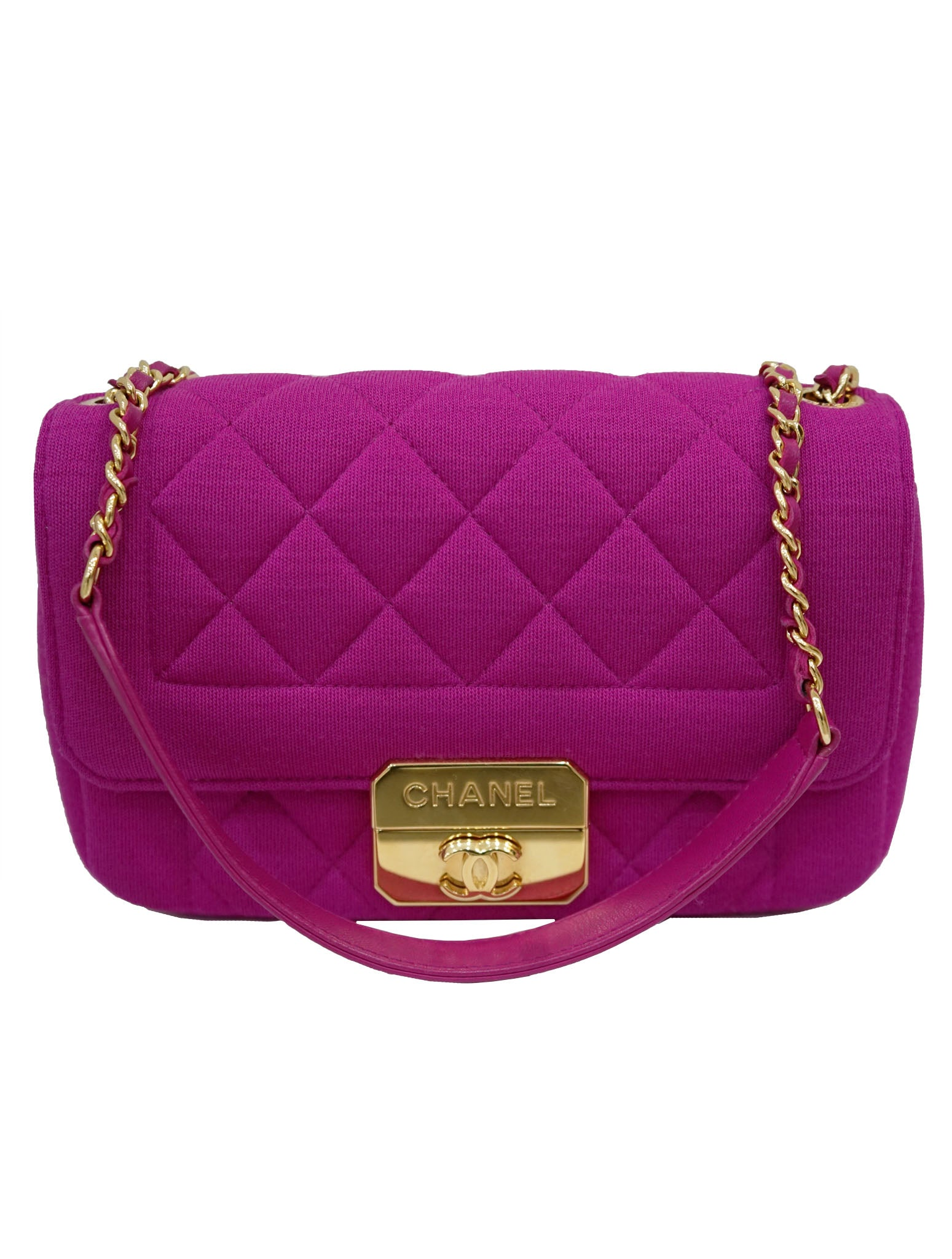 QUILTED JERSEY MINI FLAP BAG