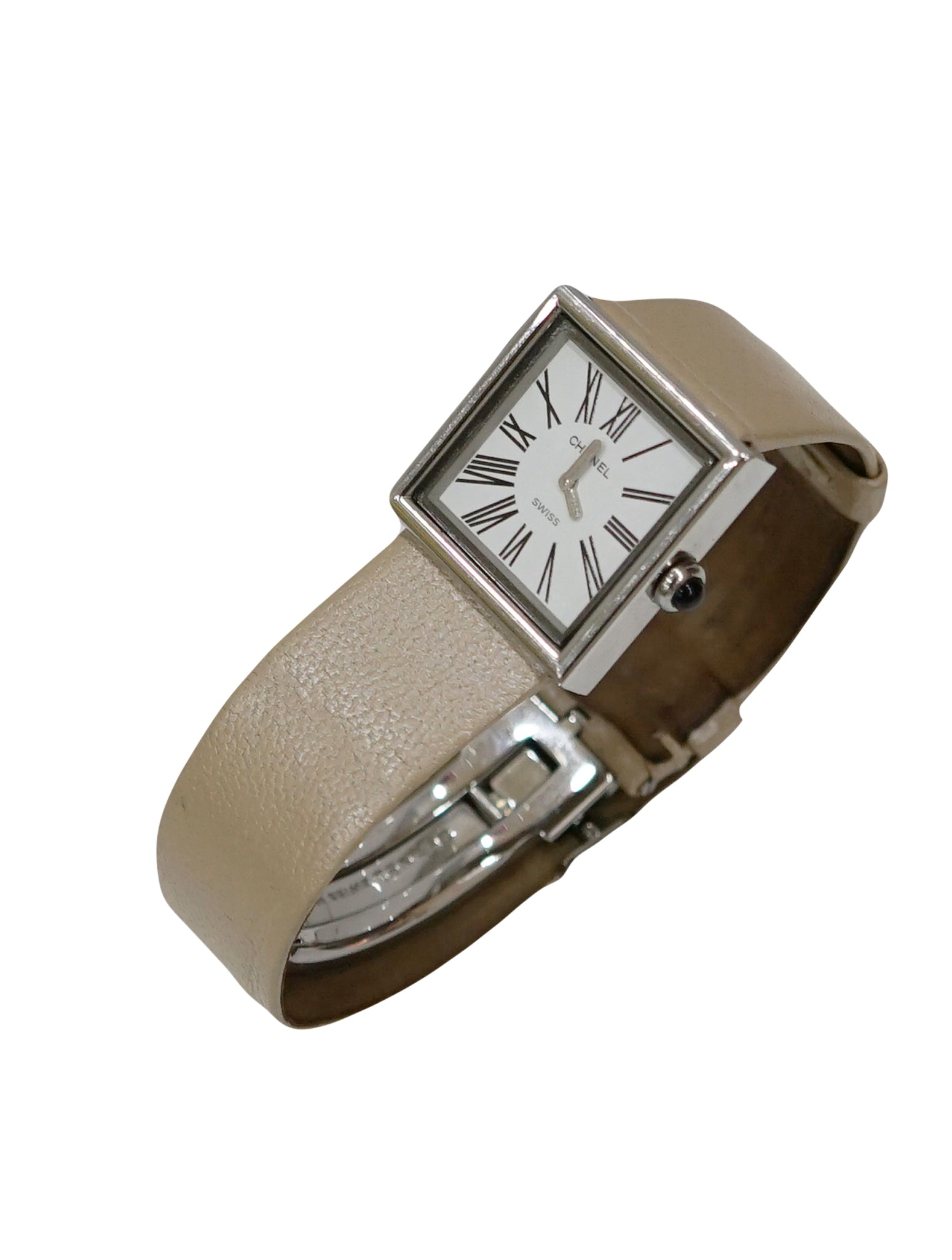 BEIGE LEATHER CUR VERITABLE WATCH