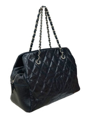 CRINKLE PATENT LEATHER TIMELESS SHOPPING BAG