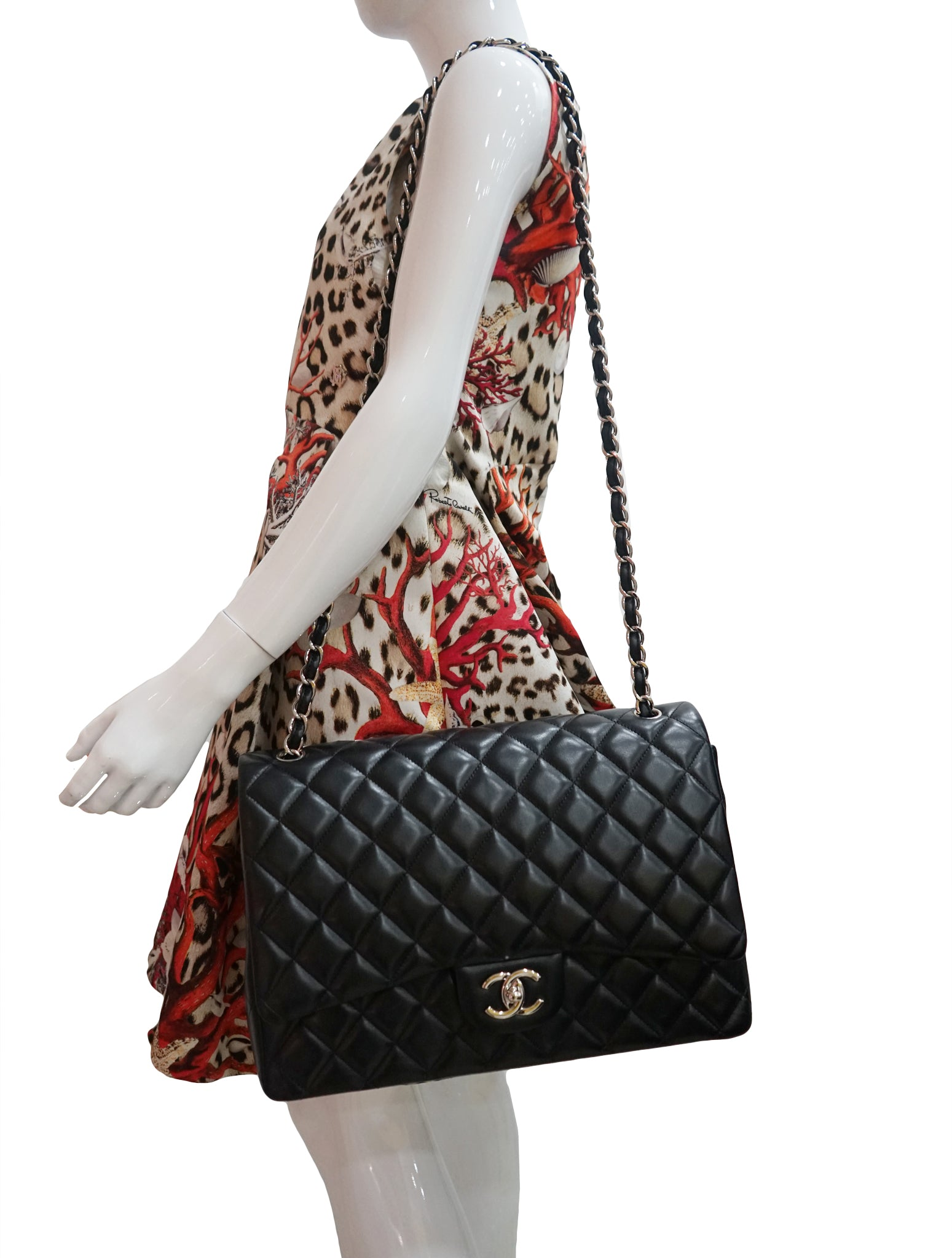 2b44b97bddd8 CHANEL QUILTED LEATHER MAXI CC CLASSIC FLAP BAG – Kidsstyleforless