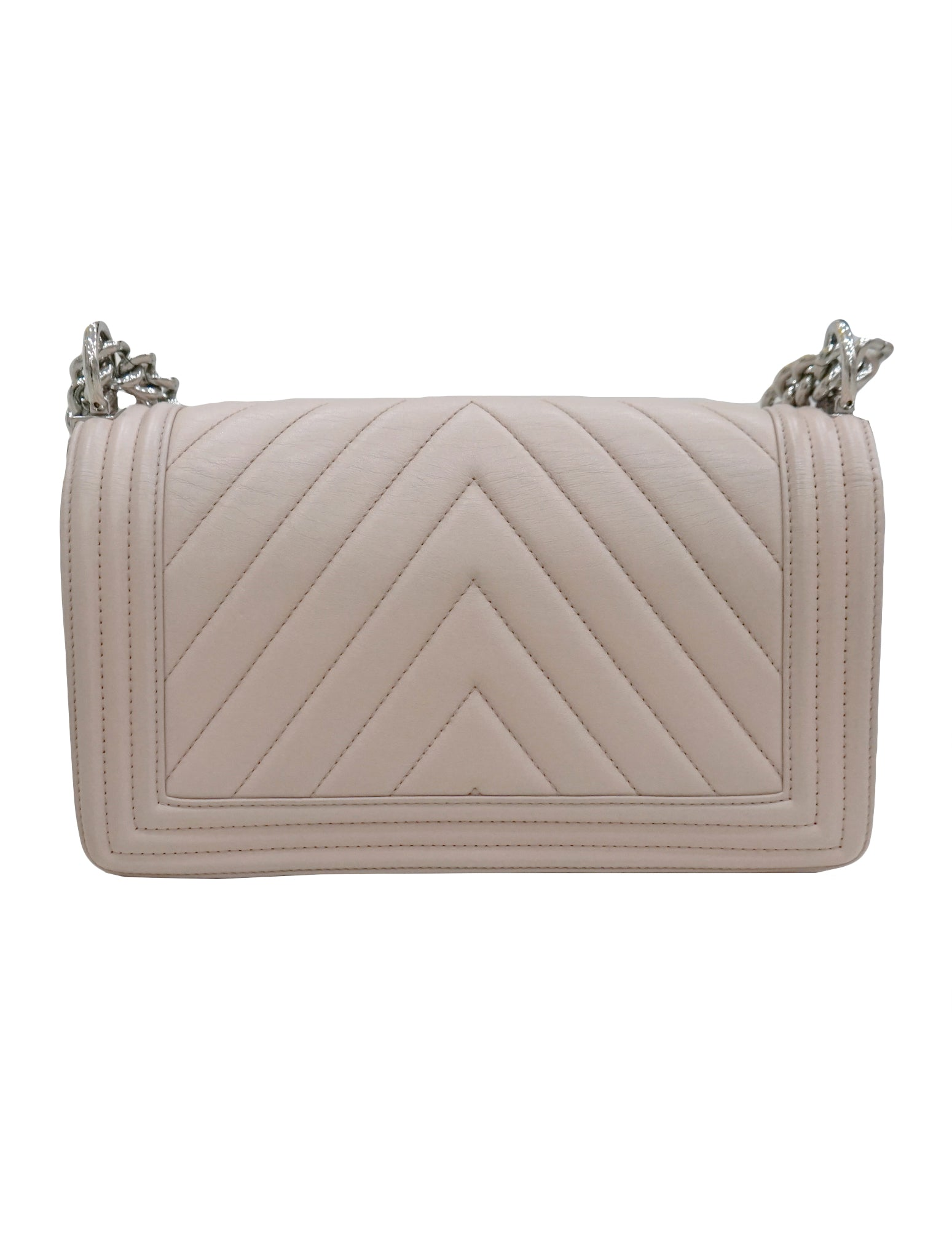 LAMBSKIN CHEVRON QUILTED BOY FLAP