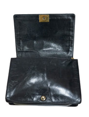 QUILTED AGE CALF LEATHER LARGE BOY FLAP BAG
