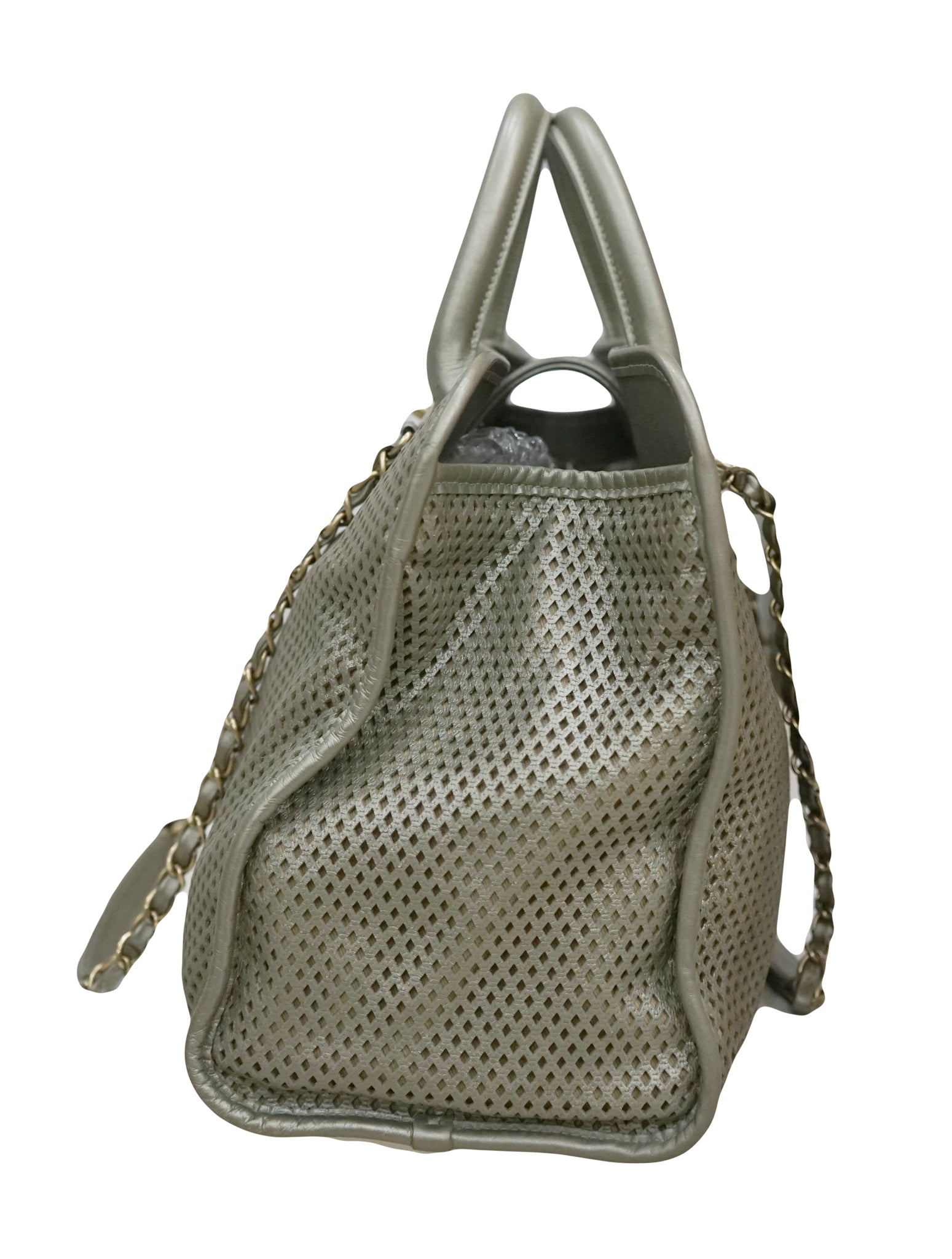PERFORATED LEATHER UP IN THE AIR TOTE