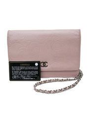 LIGHT PINK CAMELLIA WALLET ON CHAIN