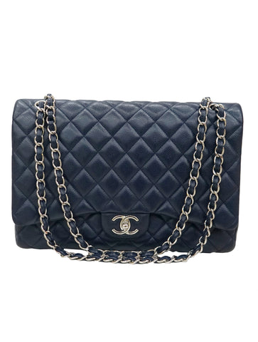 QUILTED CAVIAR MAXI CLASSIC LARGE FLAP BAG