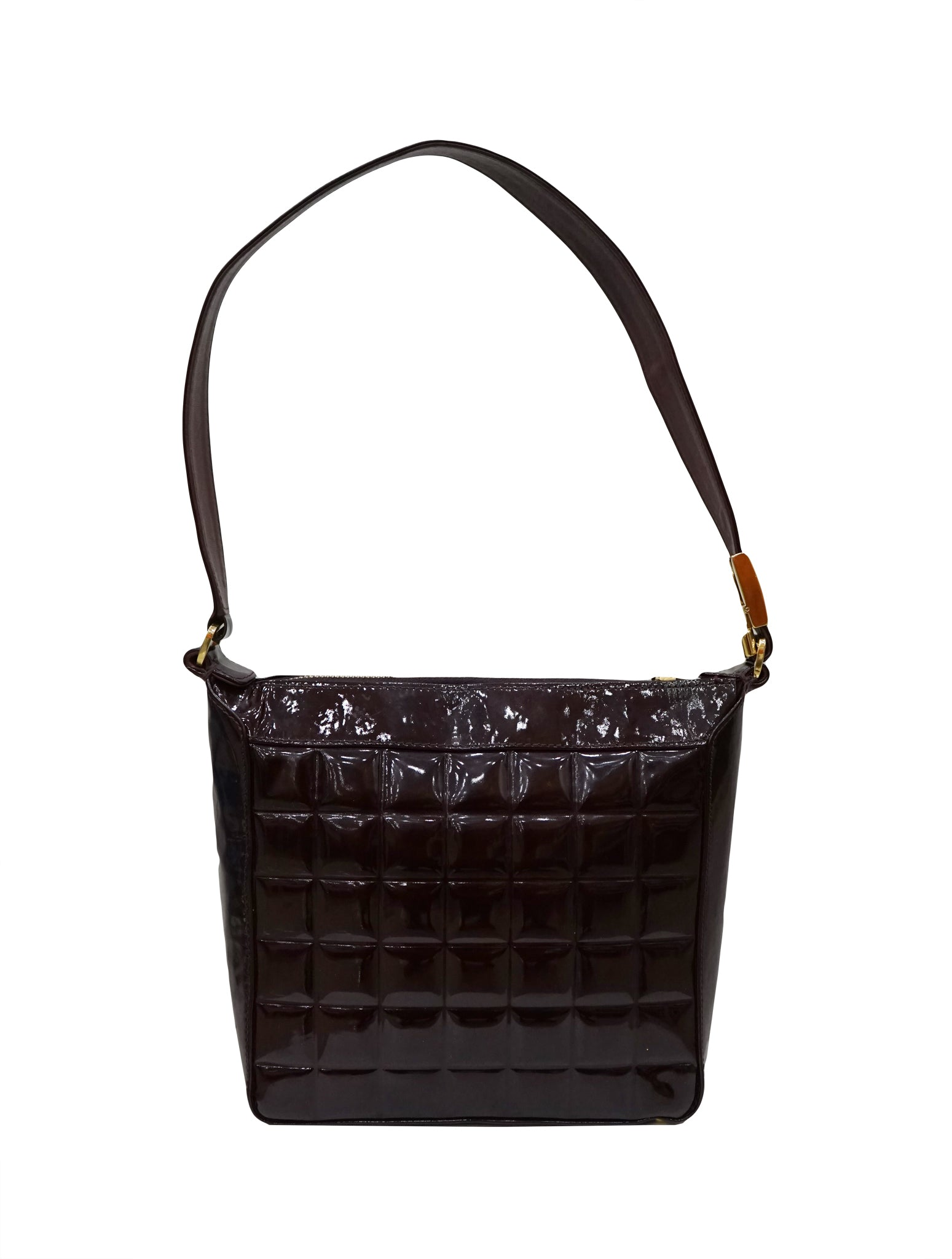 PATENT LEATHER CHOCOLATE BAR BAG