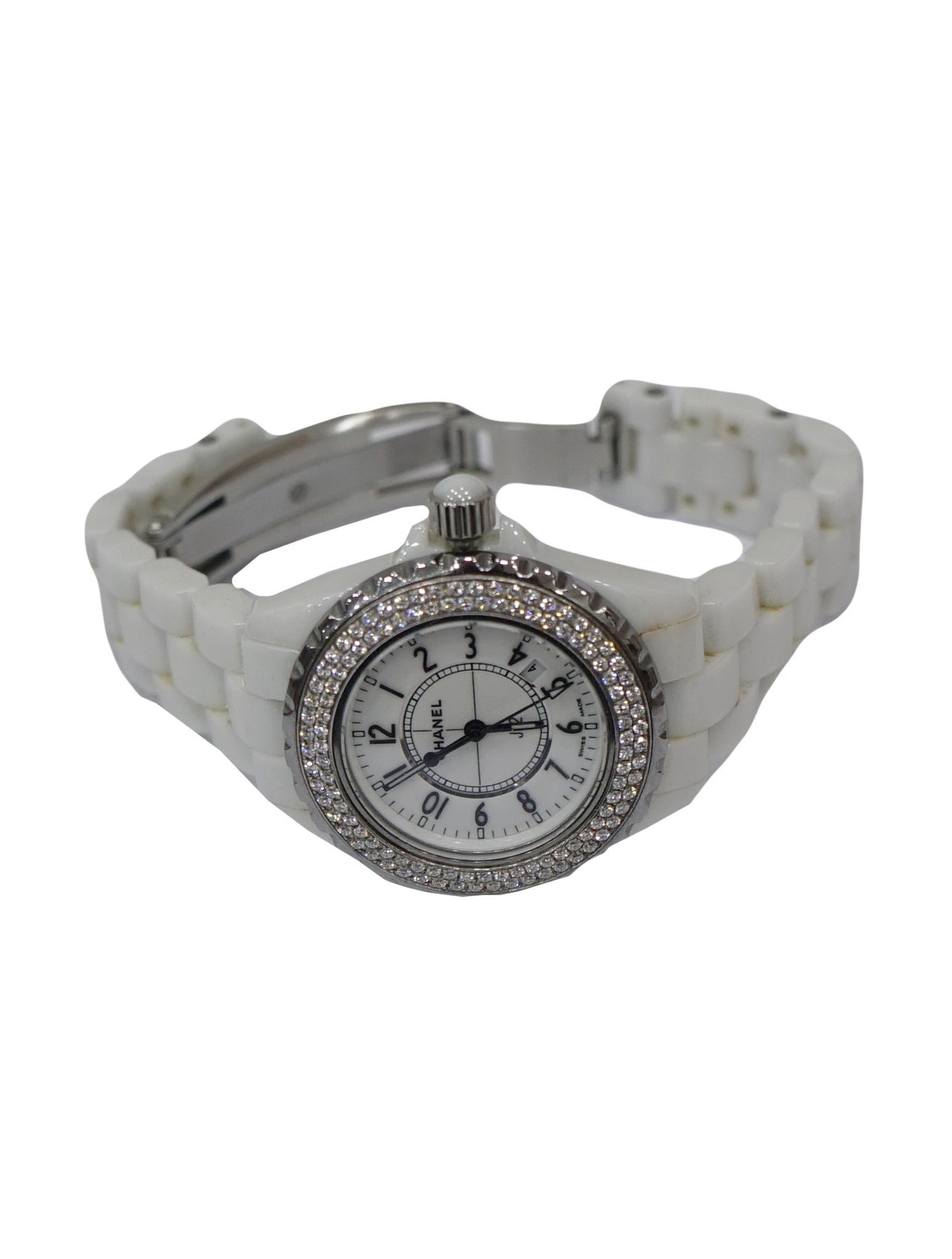 STAINLESS STEEL & CERAMIC DIAMOND J12 WATCH