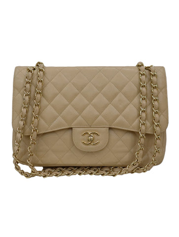 QUILTED CAVIAR CLASSIC MEDIUM DOUBLE FLAP BAG